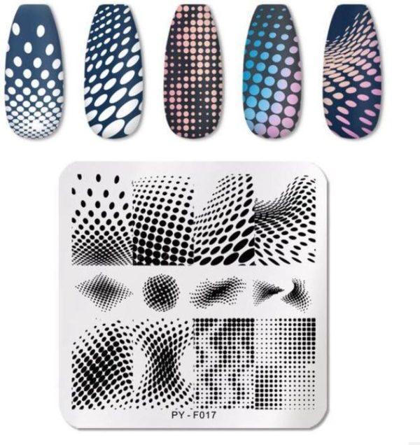 Nail Art Stempel plaat - French manicure - nagellak acryl - Stippen Sjabloon