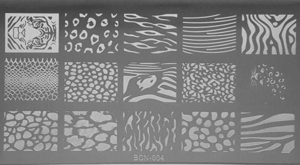 Nail Art Stempelplaat - nagellak acryl stempelen - Tijger en Luipaard Sjablonen