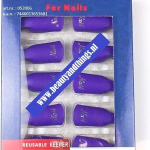 Nail Soak Off Clips - Nagel Remover Clips Paars - 10 stuks