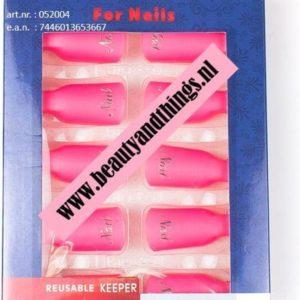 Nail Soak Off Clips - Nagel Remover Clips Roze - 10 stuks