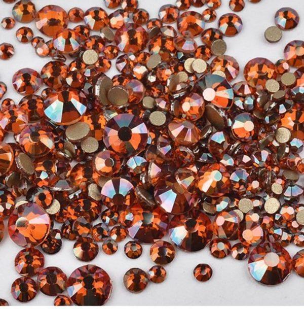 Nail art 3D | nageldecoratie | nagel art diamantjes | 1440 stuks | bronze