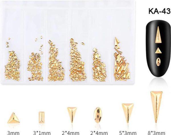 Nail art 3D | nageldecoratie | zakje met 6 designs - nagel art verschillende versieringen
