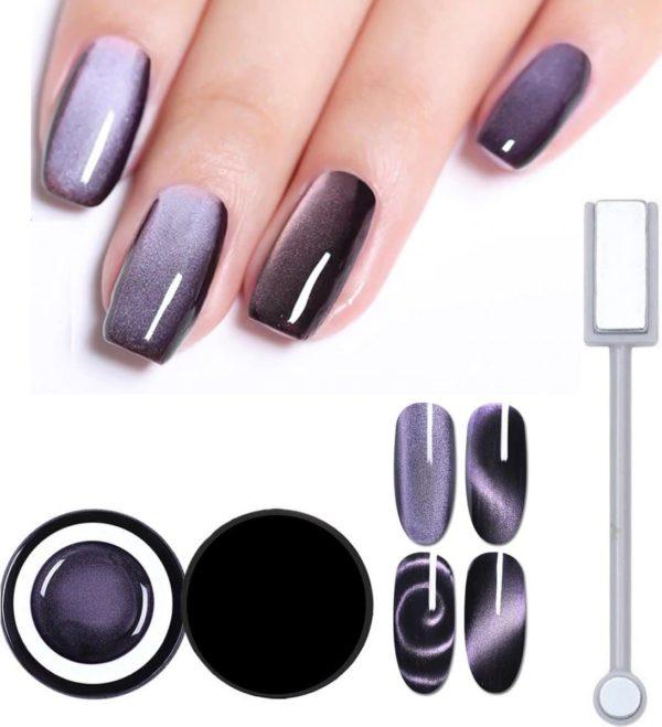 Nail art 5D cat eye nagel gel - Elope To Stars - Born Pretty nagellak set