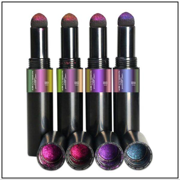 Nail art Chameleon pigment pen set 4 stuks/Pigment pen/Magic Mirror Poeder/Powder Chrome Pen