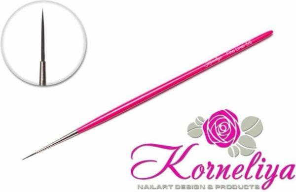 Nail art penselen - Korneliya Penseel Fine Liner Professional 3/0