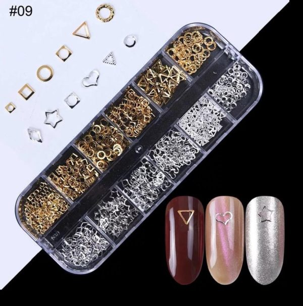Nail art professional nail studs 3D | Nagel Steentjes |Rhinestones| Goud/Zilver | RS-09 | DM-Products