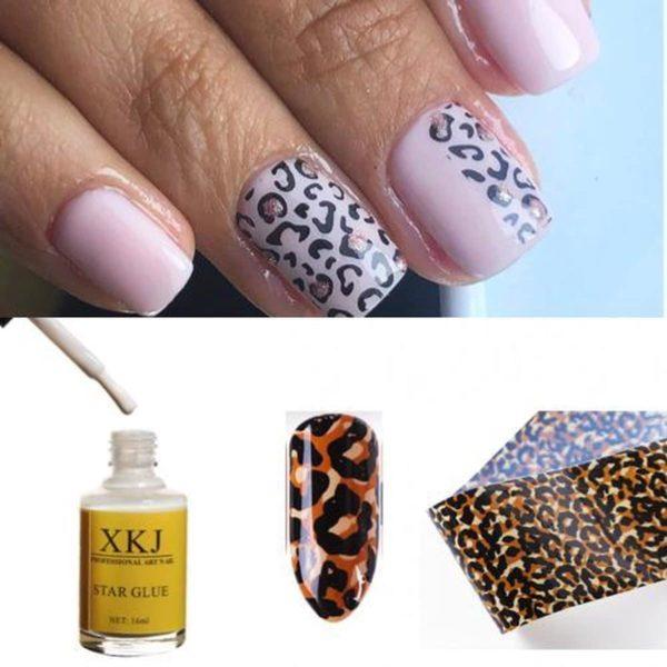 Nail art set - Nagel folie set - Luipaard nagel print -