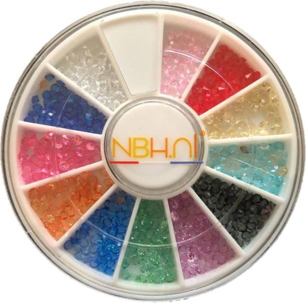 Nail art tools Steentjes Set - 12 verschillende kleuren
