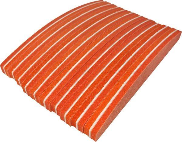 Nail buffer trapeze (10 stuk) 100/180 Oranje Polijstblok- Bufferblok - Buffervijl- Buffing Block- Polijstblok