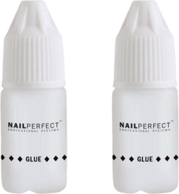 NailPerfect Nagellijm 2 x 3 gr voor Nagelverlenging - Nail Art & Nepnagels