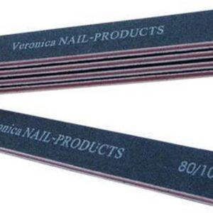 Online bestellen 5x rechte nagel vijlen # 80/100, zwart. Goedkope nagel vijlen voor het vijlen / afvijlen / verwijderen / afwerken van de acryl nagels & gel nagels.
