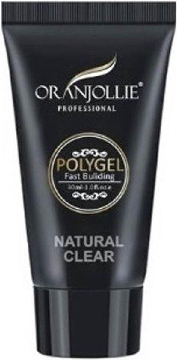 Oranjollie Polygel Natuurlijk helder - Gel nagels - Tube Clear 30 ml