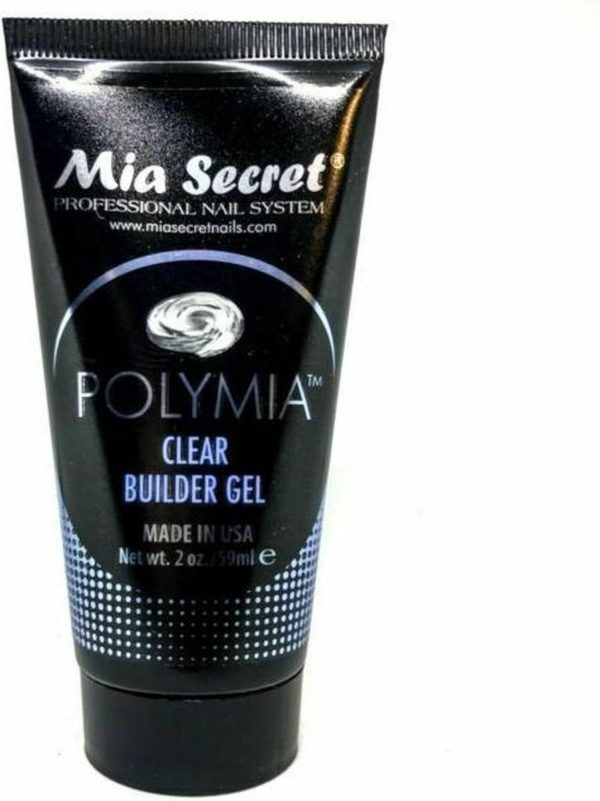 POLYMIA Hybride Polygel Clear Builder Gel - Opbouwgel - 59 ml Gel