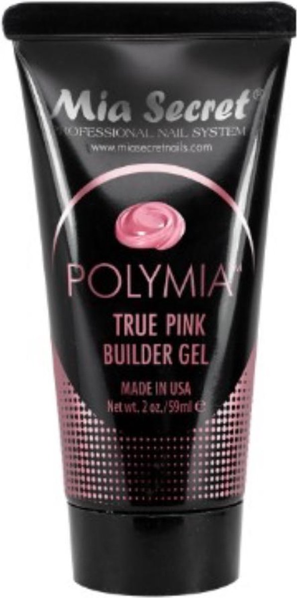 POLYMIA Hybride Polygel True Pink Builder Gel - Opbouwgel - 59 ml Gel