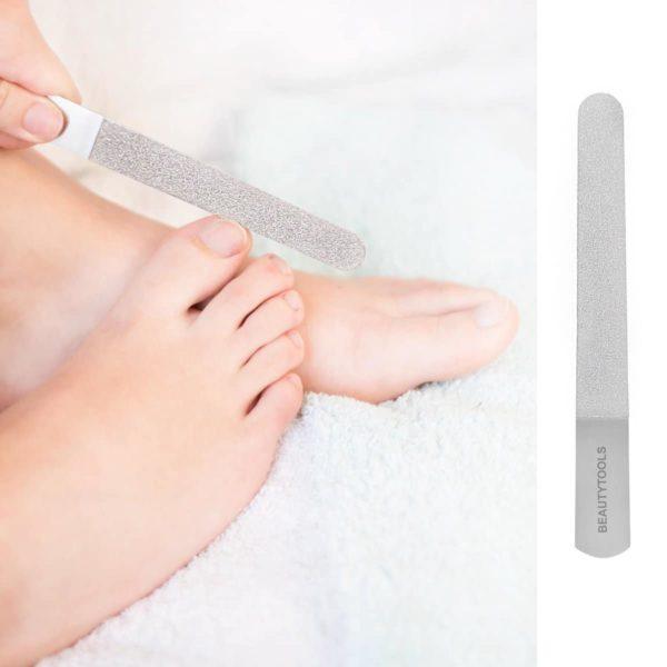 PROMO! BeautyTools Korte Manicure/Pedicure Nagelvijl met Grove Korrel - Metaal Diamantvijl - Compact 15 cm (NF-1079)