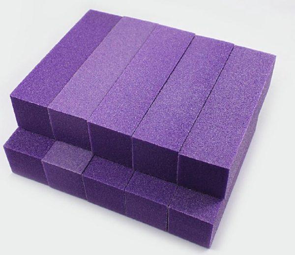 Polijstblok Paars (10stuk) Vijlen - Bufferblok - Buffervijl- Buffing