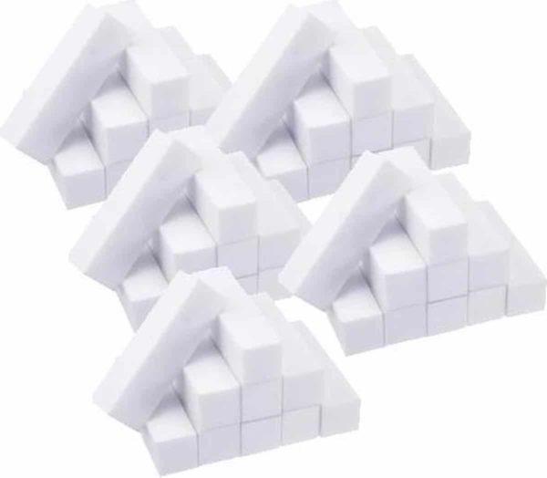 Polijstblok - wit - 50 stuks - laag geprijsd - Bufferblok - Nail Buffer - nagelvijl - gelnagels - gellak - acrylnagels - manicure - pedicure