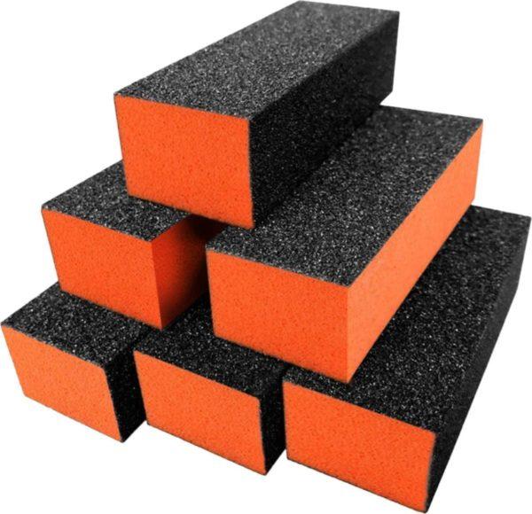 Polijstblok zwart/oranje (10stuks)- Buffer Blok- Nagelvijl- Nagel Bufferblok- Manicure- Nagelvijlen