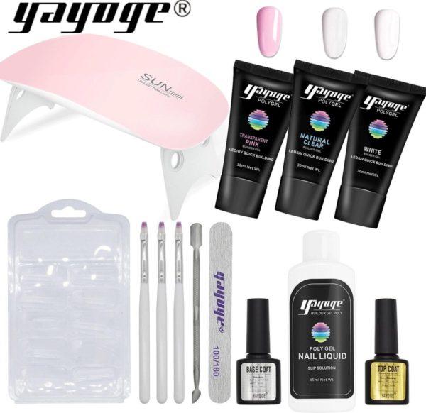 Polygel - Gelnagels Starterspakket - Polygel Starterspakket - Gellak starterspakket - Gel Nagellak - Kunstnagels - UV Lamp