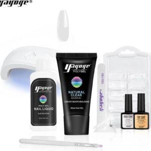 Polygel - Gelnagels Starterspakket - Polygel Starterspakket - Gellak starterspakket - Gel Nagellak - Kunstnagels - UV Lamp - 1 kleuren