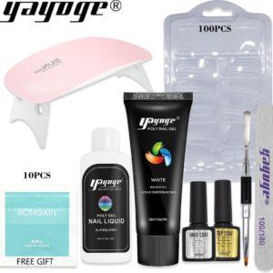 Polygel - Gelnagels Starterspakket - Polygel Starterspakket - Gellak starterspakket - Gel Nagellak - Kunstnagels - UV Lamp - 1 kleuren - 60 ml