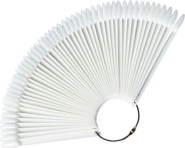Presentatie Display 50 nagels naturel amandelvorm/Nagel display/Presentatie voor gellak/ Nagel Display Ring Waaier/Display sticks