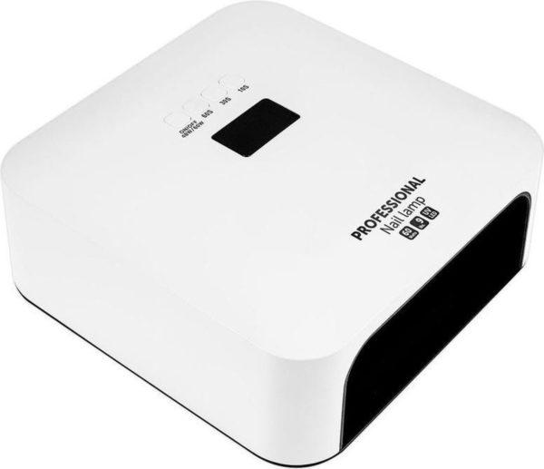 Professionele 60 watt LED nageldroger WIT voor gellak nagels - low heat mode - hand detectie - 33 led's - LCD scherm - timer - manicure