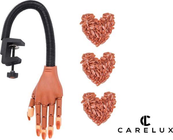 Professionele Nagel Oefenhand - Nagelstyliste - Nailtrainer - Nailart - Flexibele Kunsthand Voor Manicure en Nagelkunst INCLUSIEF gratis 100 Nageltips