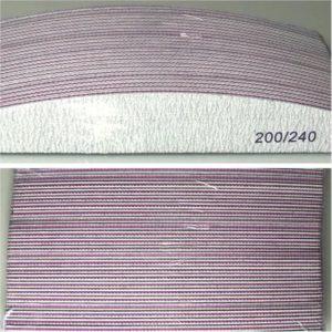 Professionele nagelvijlen half moon| 200/240 grit |pak van 24 stuks geschikt voor Gel, Gellak en Acrylnagels en natuurlijke nagels
