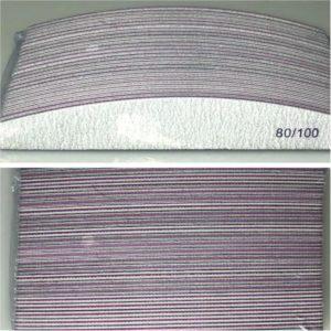 Professionele nagelvijlen half moon| 80/100 grit |pak van 24 stuks geschikt voor Gel, Gellak en Acrylnagels en natuurlijke nagels