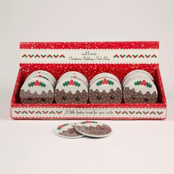 Pudding nagelvijl kerst - Sass & Belle