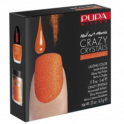 Pupa Milano Crazy Crystals Nail Art Kit 004 Fluo Orange
