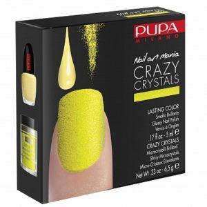 Pupa Milano Crazy Crystals Nail Art Kit 005 Fluo Yellow