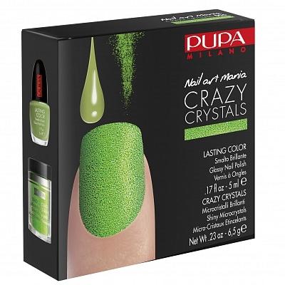 Pupa Milano Nail Art Mania Crazy Crystals 006 Fluor Green
