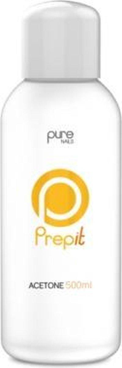 Pure Nails Aceton 500 ml - voor een vlotte verwijdering van nagellak, gellak, gelpolish,acrylgel,polygel, ...