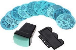 Purplebox nagel Stempel set met 10 sjablonen