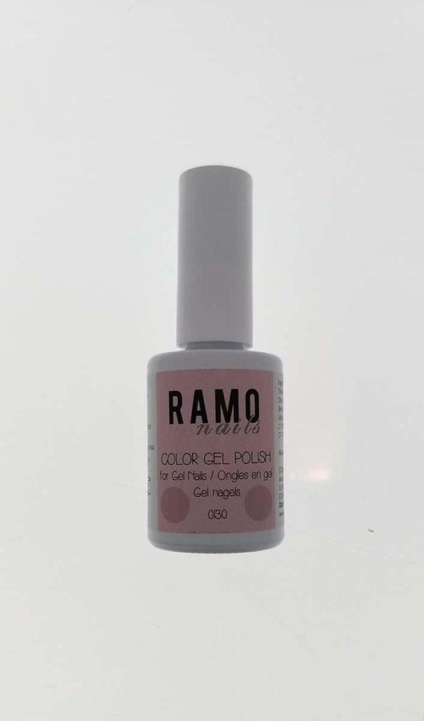 Ramo gelpolish 0130-gel nagellak-gelpolish-gellak-uv≤d-15ml-soak off-nude-roze