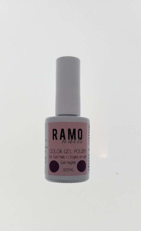 Ramo gelpolish 0224G-gel nagellak-gelpolish-gellak-uv≤d-15ml-soak off-paars metallic