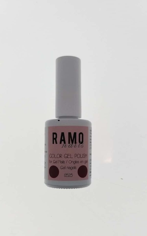 Ramo gelpolish 0525-gel nagellak-gellak-gelpolish-uv≤d-15ml-soak off-donkerrood