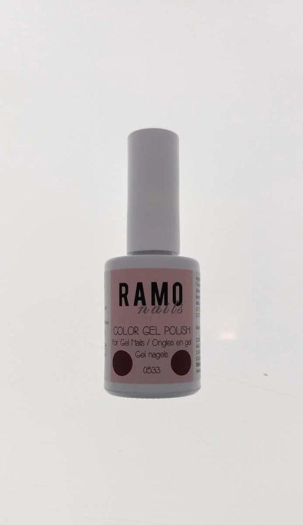 Ramo gelpolish 0533-gel nagellak-gelpolish-gellak-uv≤d-15ml-soak off-donker rood