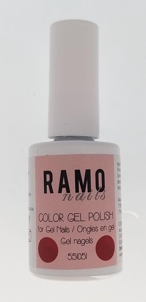 Ramo gelpolish 551051-gel nagellak=gelpolish=gellak-uv≤d-15ml-soak off-semi transparant-glitter-roze