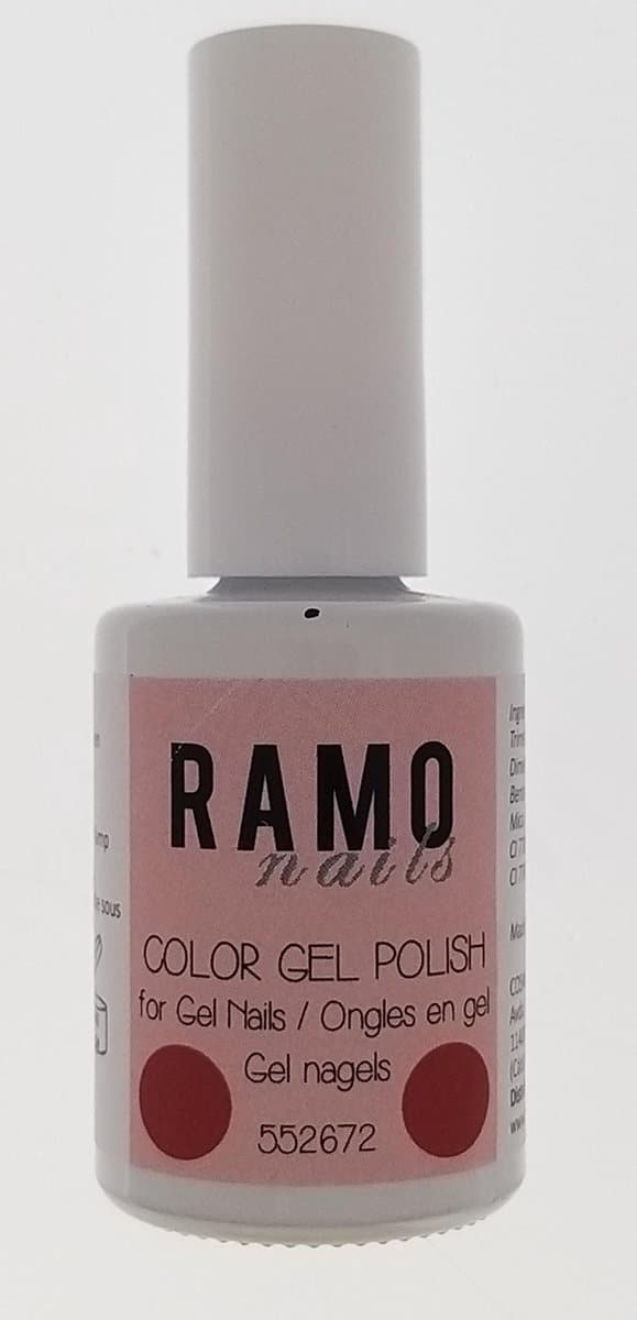 Ramo gelpolish 552672-gel nagellak-gelpolish-gellak-uv≤d-15ml -soak off-rood-metallic