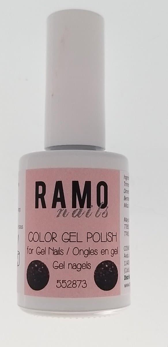 Ramo gelpolish 552873-gel nagellak-gelpolish-gellak-uv≤d-15ml -soak off-glitter-bruin