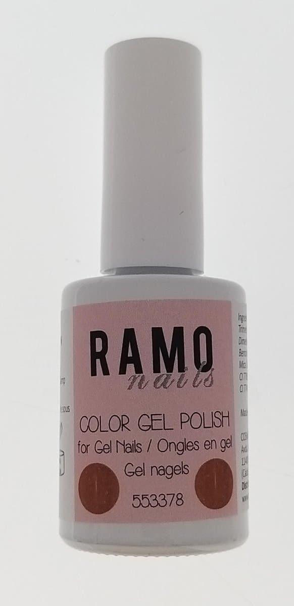 Ramo gelpolish 553378-gel nagellak-gelpolish-gellak-uv≤d-15ml-soak off-semitransparant-glitter-bruin