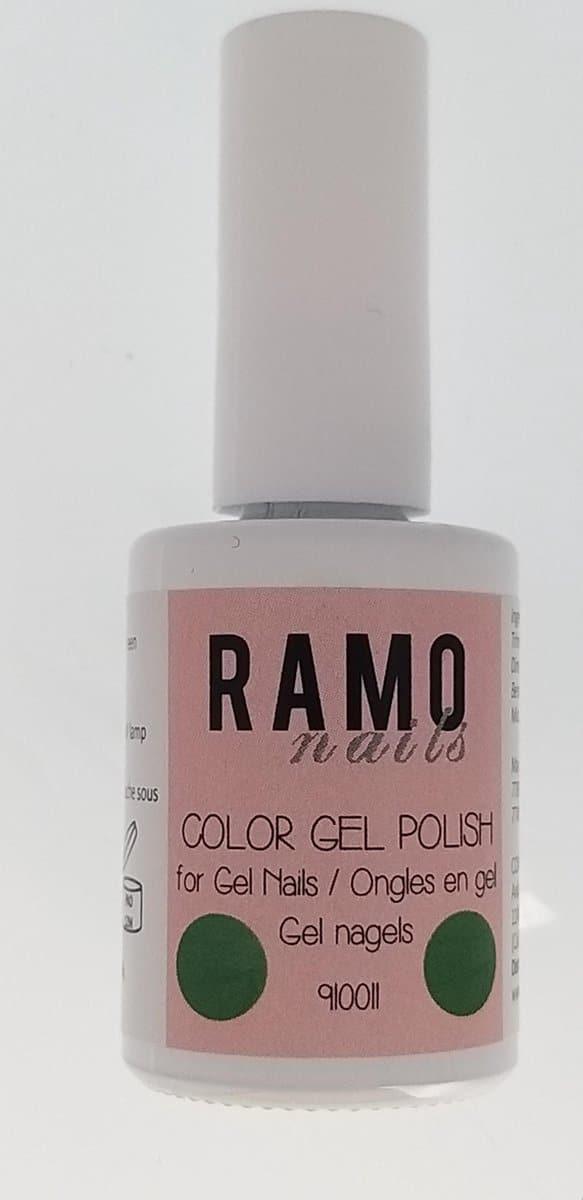 Ramo gelpolish 910011-gel nagellak-gelpolish-gellak-uv≤d-15ml-soak off-metallic-groen