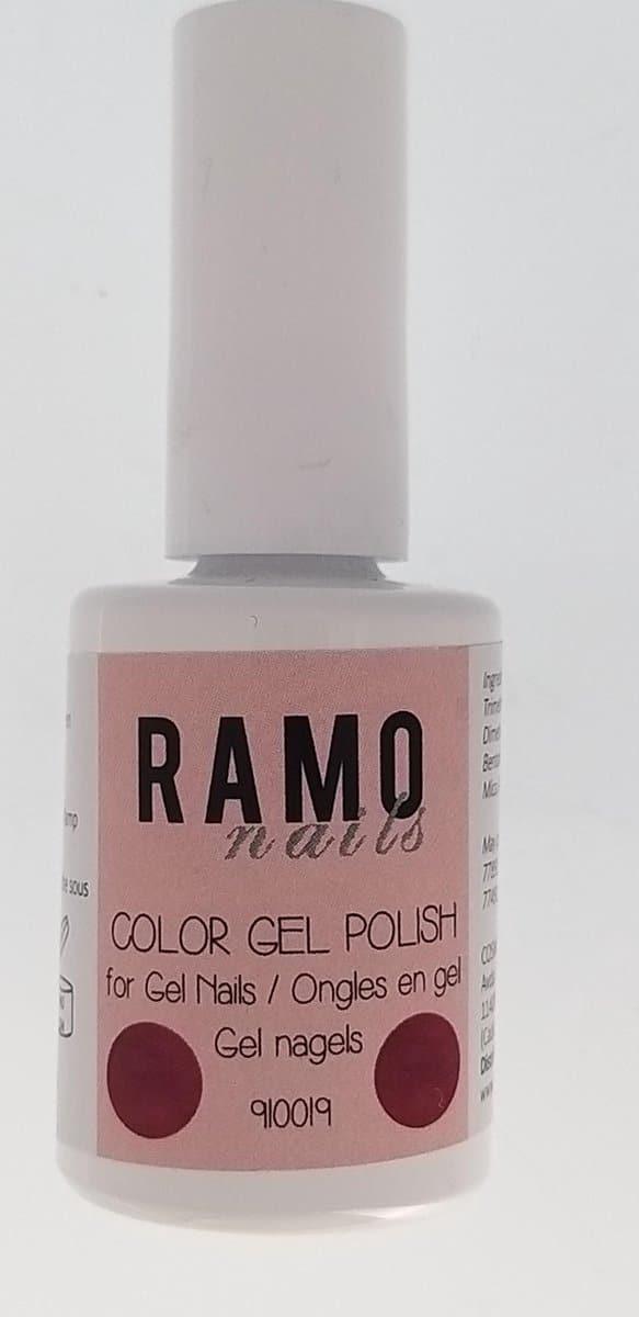 Ramo gelpolish 910019-gel nagellak-gelpolish-gellak-uv≤d-15ml-soak off-metallic-roze