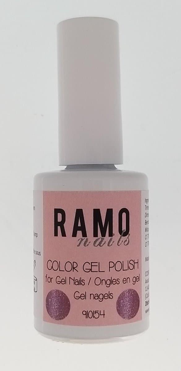 Ramo gelpolish 910154-gel nagellak-gelpolish-gellak-uv≤d-15ml-soak off-semi transparant-glitter-roze
