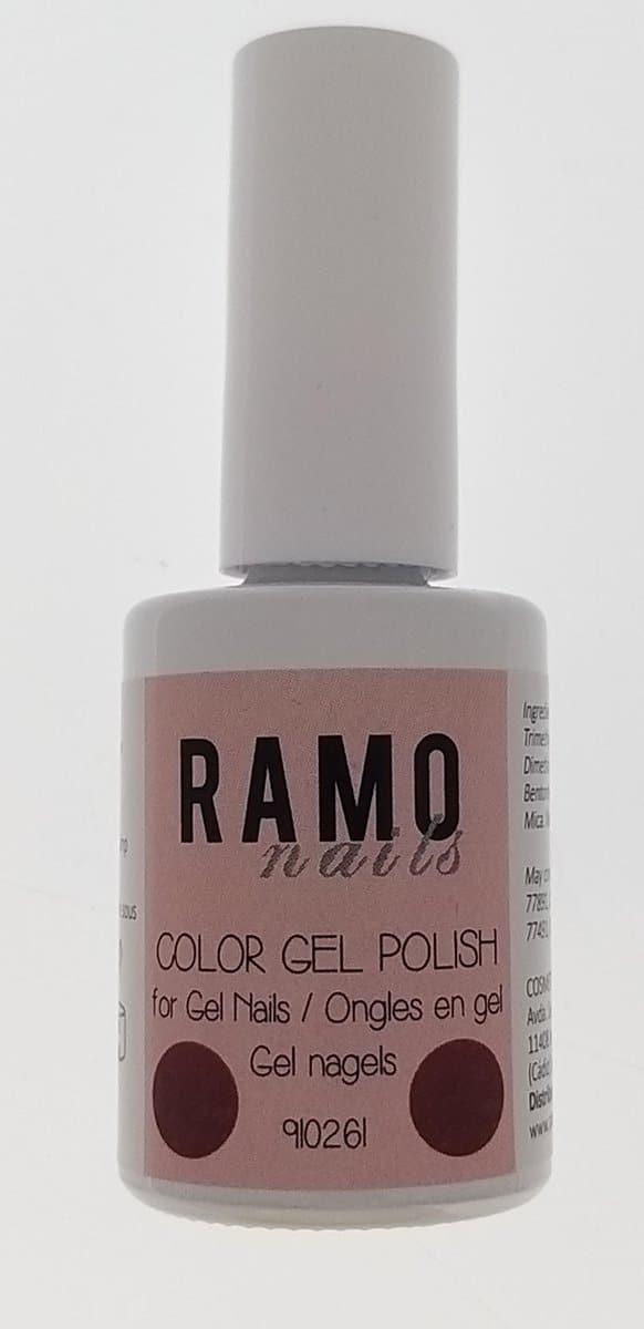 Ramo gelpolish 910261-gel nagellak-gellak-gelpolish-uv≤d-15ml-soak off-semi transparant-glitter-rood
