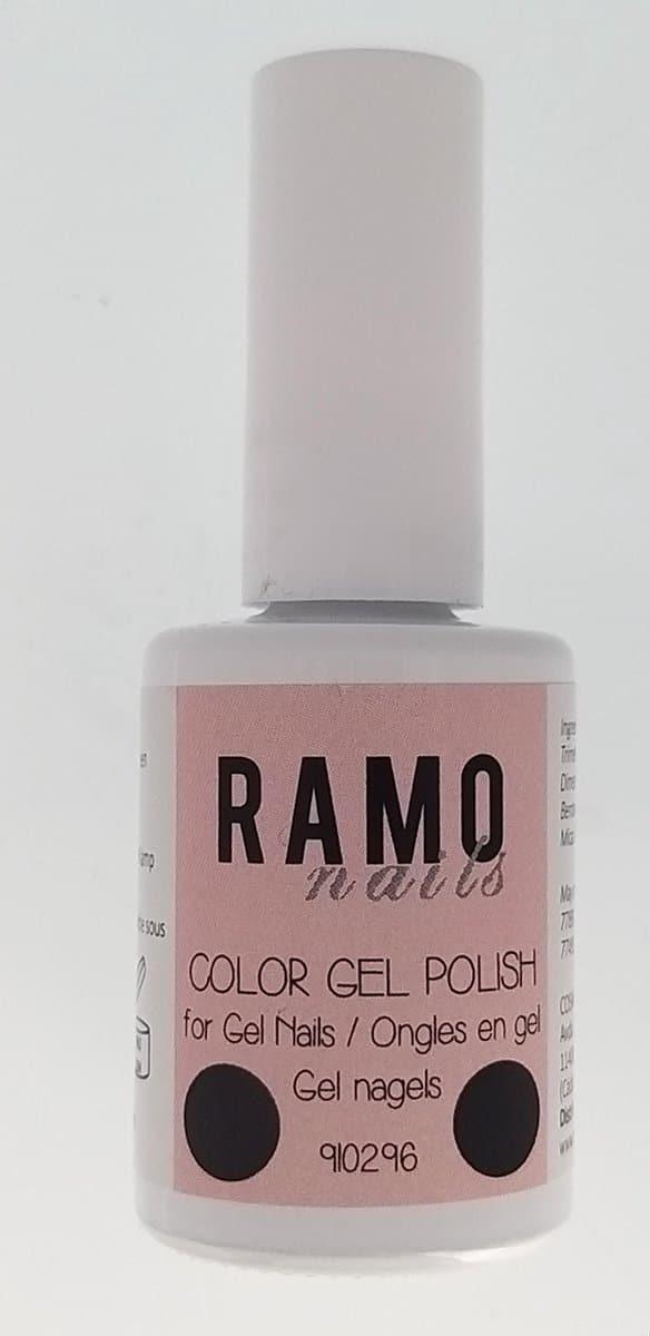 Ramo gelpolish 910296-gel nagellak-gelpolish-gellak-uv≤d-15ml- soak off-paars-zwart-glitter