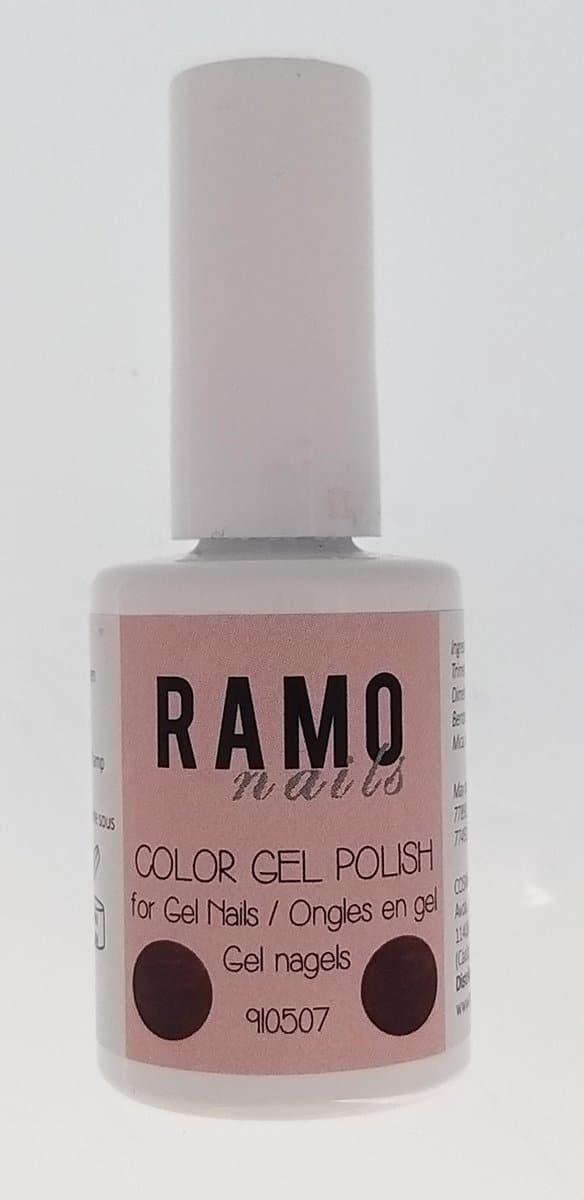 Ramo gelpolish 910507-gel nagellak-gelpolish-gellak-uv≤d-15ml -soak off-metallic-donker rood